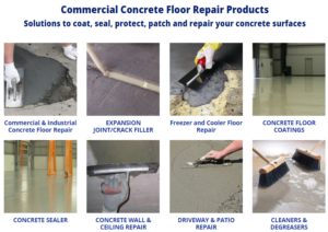 Capital Industries Commercial Concrete Floor Repair Products List
