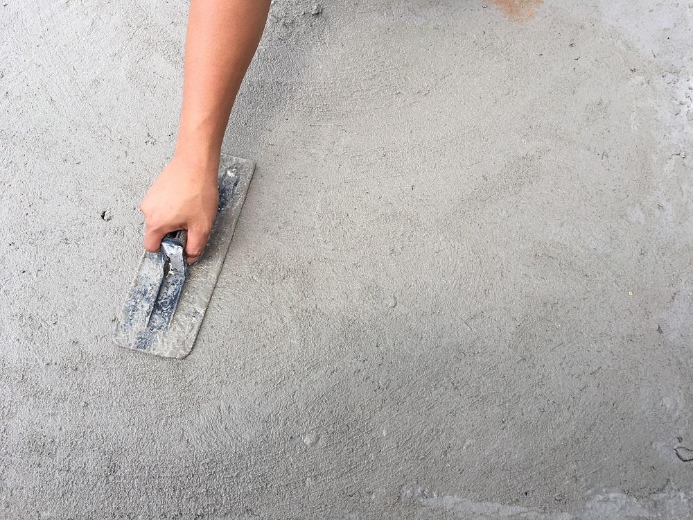 Applying Epoxy Floor Patch to Industrial Flooring